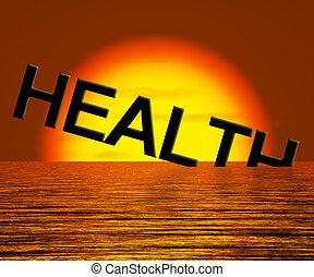 hundimiento, palabra, malsano, actuación, salud, enfermo, o, condición