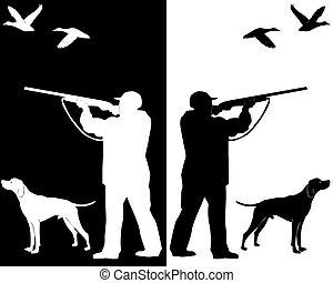 Hunter con un perro