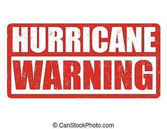 huracán, o, señal, estampilla, advertencia