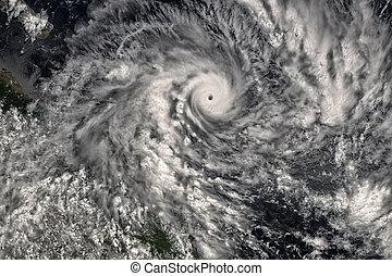 Huracán visto desde el espacio. Los elementos de esta imagen están amueblados por la NASA