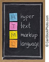 hyper, idioma, texto, markup, -, html