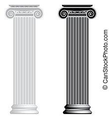 iónico, column.