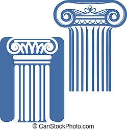 iónico, columnas
