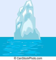 iceberg, eps10, sea.