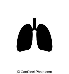 icon., órgano interno humano, pulmones