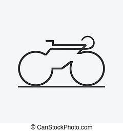 icon., bicicleta, minimalistic