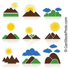 Icon de montañas