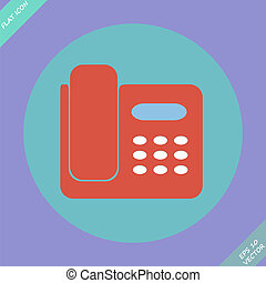 Icon de teléfono aislado - ilustración vectorial.