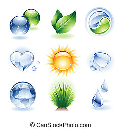 Icon establecido - naturaleza