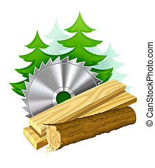 Icon para la industria de la madera