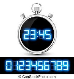 Icon reloj con una pantalla digital.