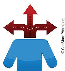 Icon tres caminos de destino