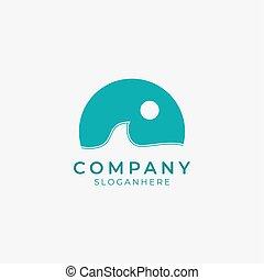 icon.eps, onda, oleaje, logotipo, océano