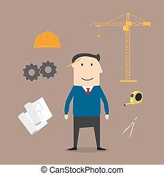 Icones de la industria de la construcción