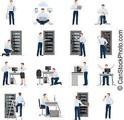 Icones del administrador del sistema
