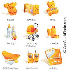 Icones listos, objetos de bebé