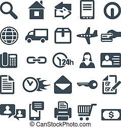 Icones para el sitio web o el aparato móvil.