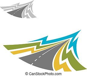 Icono abstracto de carretera moderna