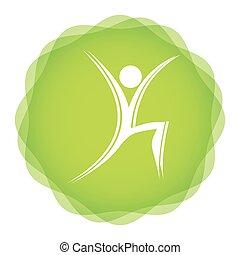 icono, aerobio, condición física