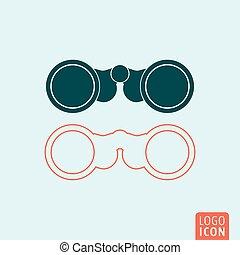 icono binoculares aislado