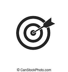 icono, blanco, blanco, vector, illustration., fondo., negro