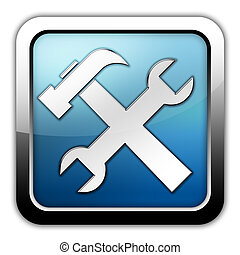 Icono, botón, herramientas pictogram