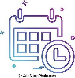 icono, calandria, diseño, vector