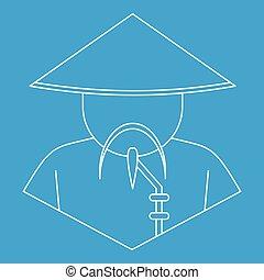 Icono chino, estilo de esquema