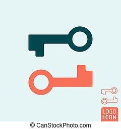 icono clave aislado