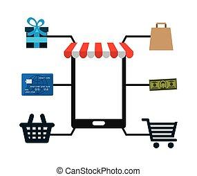icono, comercio electrónico