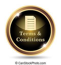 icono, condiciones, términos