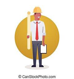 icono, constructor, hombre, engeneer, arcitect, ocupación