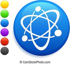 icono de átomo en el botón de internet