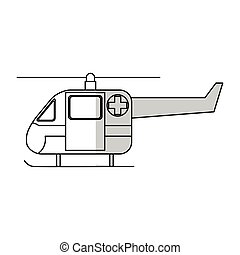 icono de ambulancia helicóptero