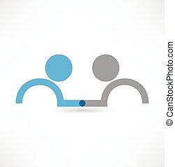Icono de apretón de manos. Diseño de logo.