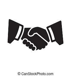 Icono de apretón de manos
