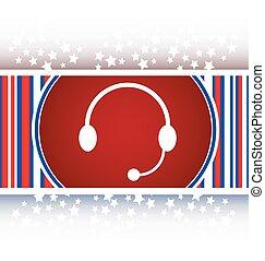 Icono de auriculares en el botón de internet ilustración original