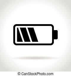 icono de batería en antecedentes