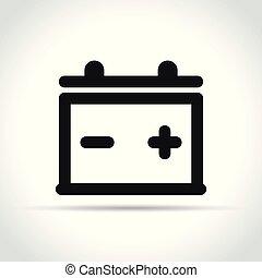 Icono de batería sobre fondo blanco