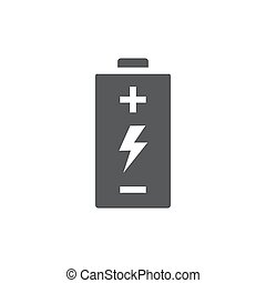 Icono de Battery Vector sobre fondo blanco