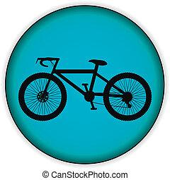 icono de bicicleta en el botón de internet