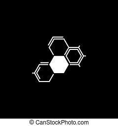 Icono de bioquímica. Diseño plano.