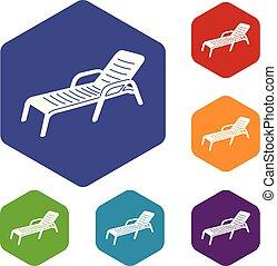 Icono de Chaise, estilo simple