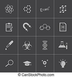 Icono de ciencia negra Vector