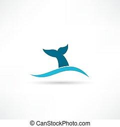 icono de cola de ballena