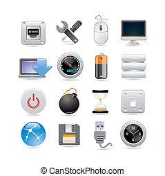 icono de computadora listo