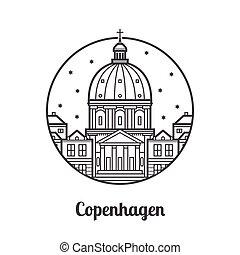 Icono de copenhagen de viaje