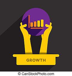 icono de crecimiento de negocios