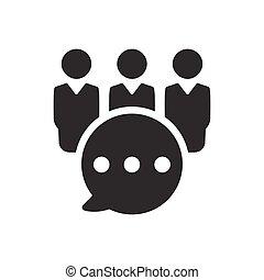 icono de discusión de grupo de negocios