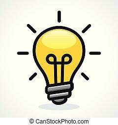 Icono de diseño de bombillas Vector